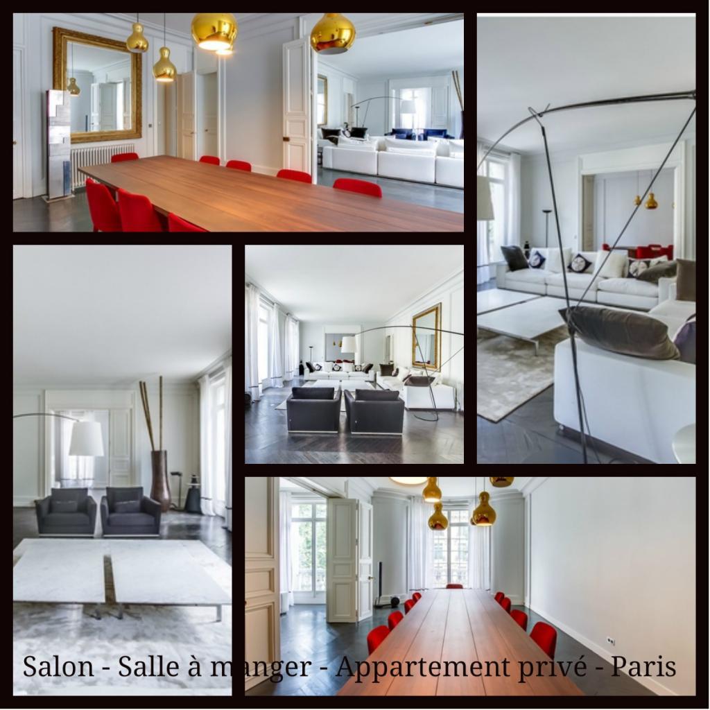 Salon - Salle à manger - Appartement privé - Paris