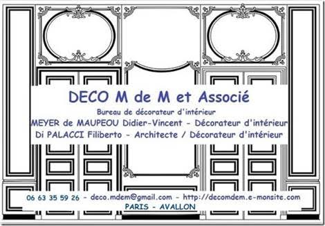 Nomenclature societe deco m de m et associe bureau de decorateur d interieur